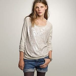 J. Crew Collection Sequin Front Slouchy Sweater